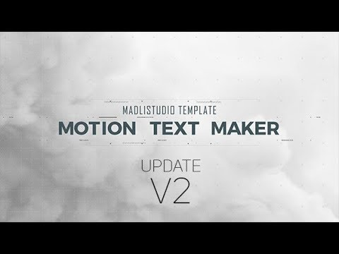 VIDEOHIVE MOTION TEXT MAKER V2 FREE DOWNLOAD