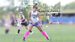 VillageSoup Sports Recap for Sept. 18