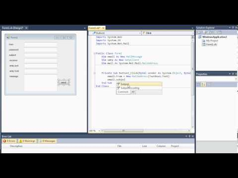 Visual Studio 2012: easy emailing project