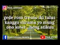 Liriks lagu GEDE ROSO (Vivi Artika) new Kendedes | terbaru