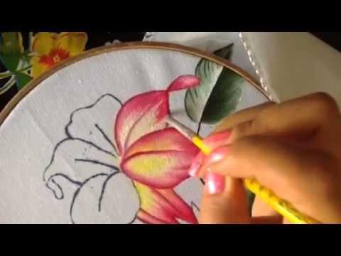 Pintura en tela flor del higo 4 con cony youtube - Dibujos para pintar en tela ...