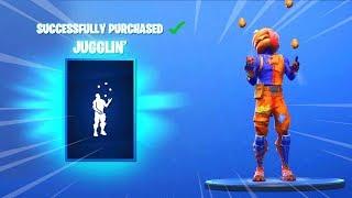*NEW* JUGGLIN' EMOTE AND SKINS (Fortnite Item Shop October 30) - JUGGLING EMOTE