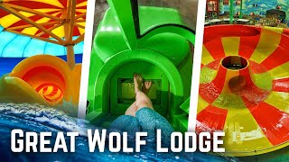 Great Wolf Lodge - ALL Water Slides at SIX Parks POV!