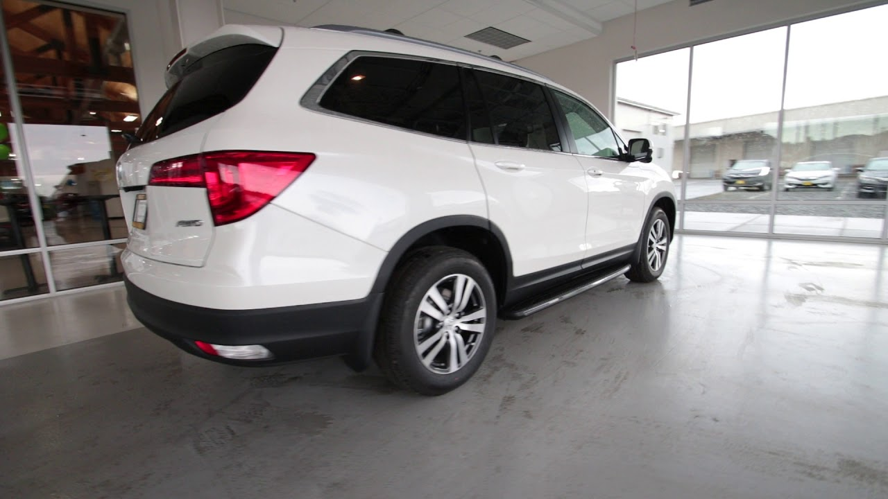 2017 Honda Pilot Ex L White Diamond Pearl Hb068609 Seattle Sumner