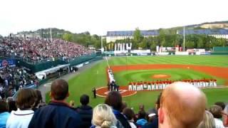 David Whitley  National Anthem September 11th 2009 Regensburg WM Baseball Game