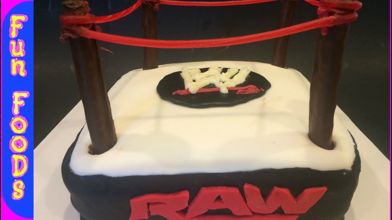Ww Wresting Birthday Cake