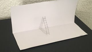 Como dibujar una escalera 3D*Ilusion Optica* (White Oswaldo)