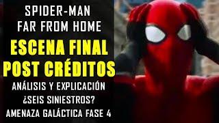 ¿QUÉ DEMONIOS PASÓ? Final Explicado y post créditos de Spider-Man Far From Home  Fase 4 y Teorías
