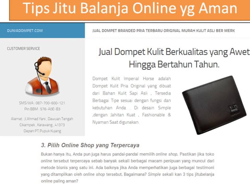 Tips Belanja Online Yg Aman Dan Terpercaya Grosir Dompet Import