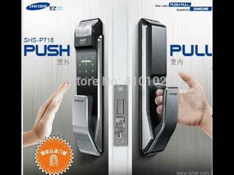 Samsung Shs P718 Fingerprint Digital Door Lock Youtube