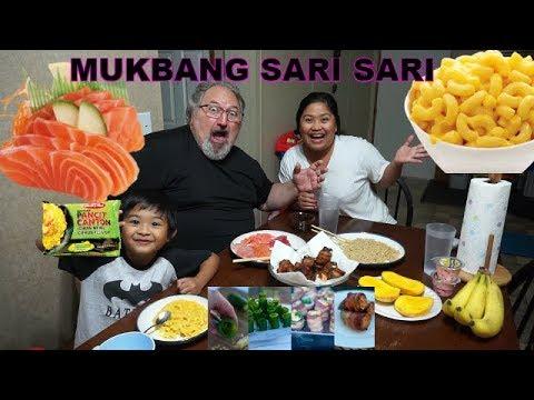 FILIPINA AMERICAN LIFE MUKBANG SARI SARI