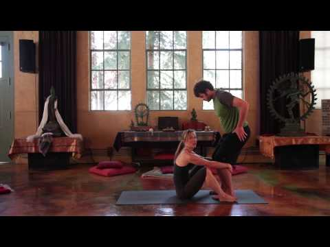 Partner Pose - How to do a Utkatasana (Chair Yoga Pose) Assist
