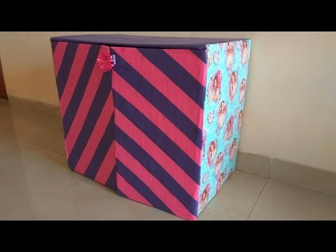 DIY Shoe RackSmall Cabinet out of waste box  Best out of