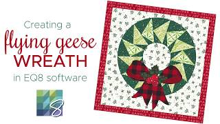 Creating a Flying Geese Wreath with the Swath Tool