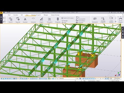 How to Create a Fuel Station Canopy part3 | Tekla Structures 2017