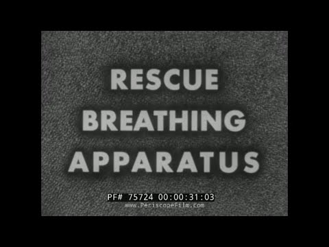 U.S. NAVY WWII TRAINING FILM: USE OF RESCUE BREATHING APPARATUS IN SHIPBOARD FIRE  75724