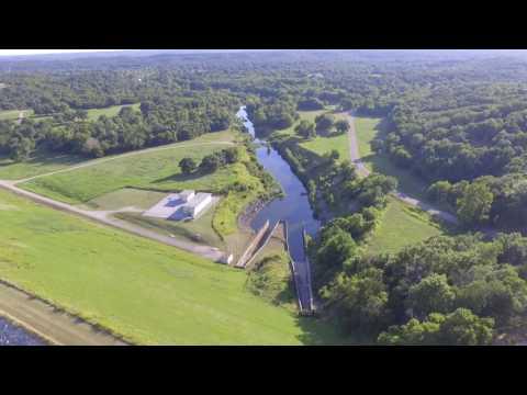 DJI Phantom drone footage and CRASH @ Arbuckle Lake in Sulphur, OK