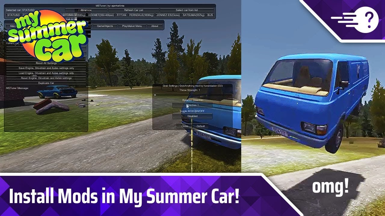 How To Install Use Mods In My Summer Car