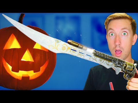 Thumbnail: 5 Horror Video Game Weapons in REAL LIFE vs Fruit Ninja
