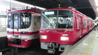 ピカピカ編成!名鉄3500系+3100系 3511F+3114F (準急中部国際空港行き) 金山発車