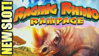 ★NEW SLOT!★ RAGING RHINO RAMPAGE MEGA PLAY @$10, $20, & $50 BET Slot Machine (SG)