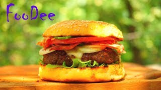 Рецепт бургера на УГЛЯХ ☆ Готовим ВКУСНЕЙШИЙ гамбургер дома