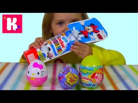 Катя открывает сюрпризы обзор игрушек