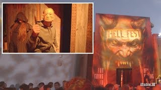 [4k] Hell Fest Haunted Maze -  Fright Fest 2018 - Six Flags Magic Mountain