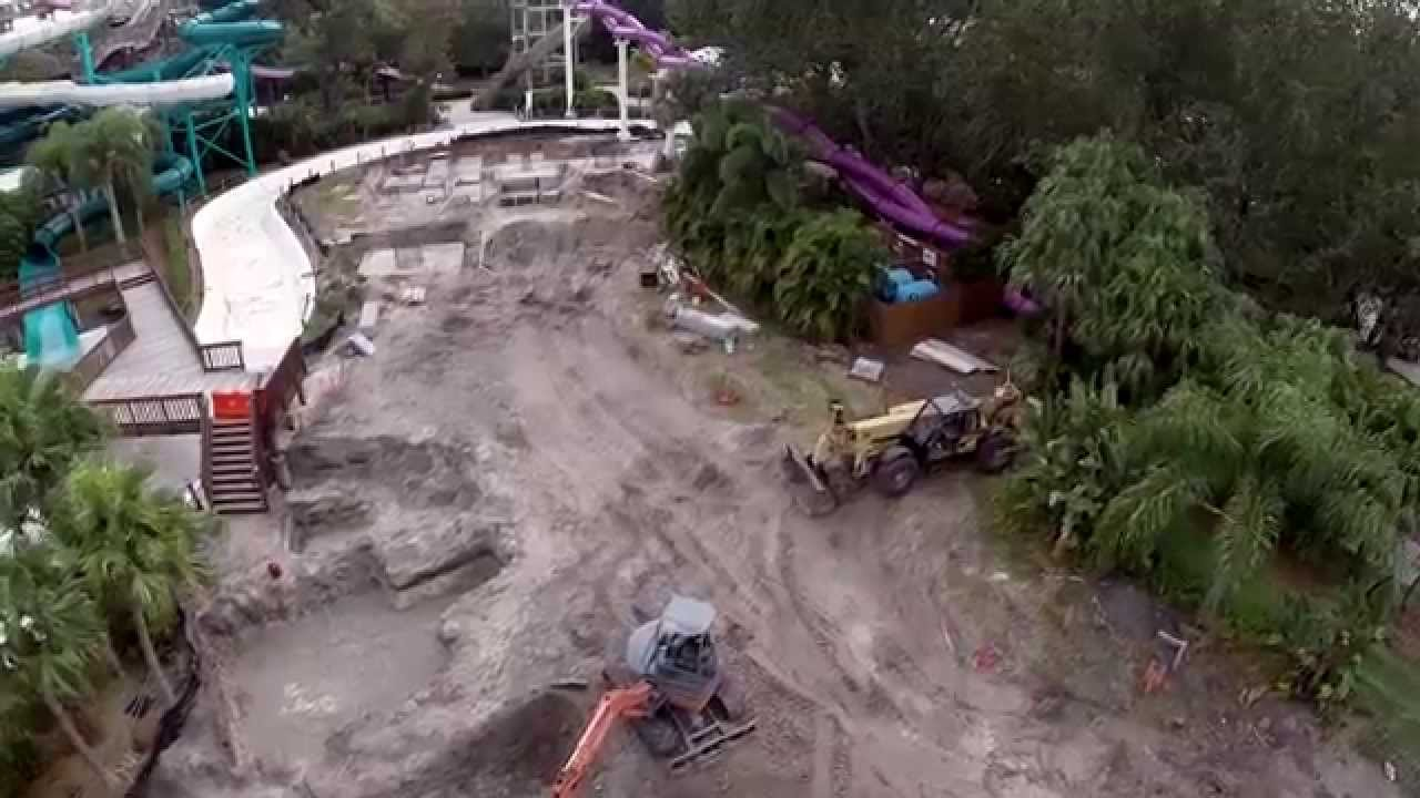 Adventure Island Tampa: Time-Lapse: Colossal Curl - Flyover