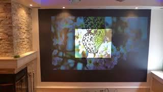 NEW Luminous silver 4K TV like hard panel projection screens only $182 each