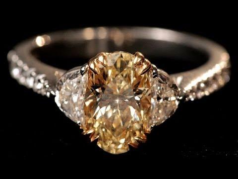 Gold Setting vs. Platinum Setting   Diamond Rings