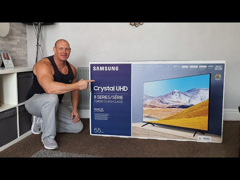 """NEW 2020 Samsung TU8000 55"""" TV,unboxing,setup,wall Mounting,picture & Audio Demo"""
