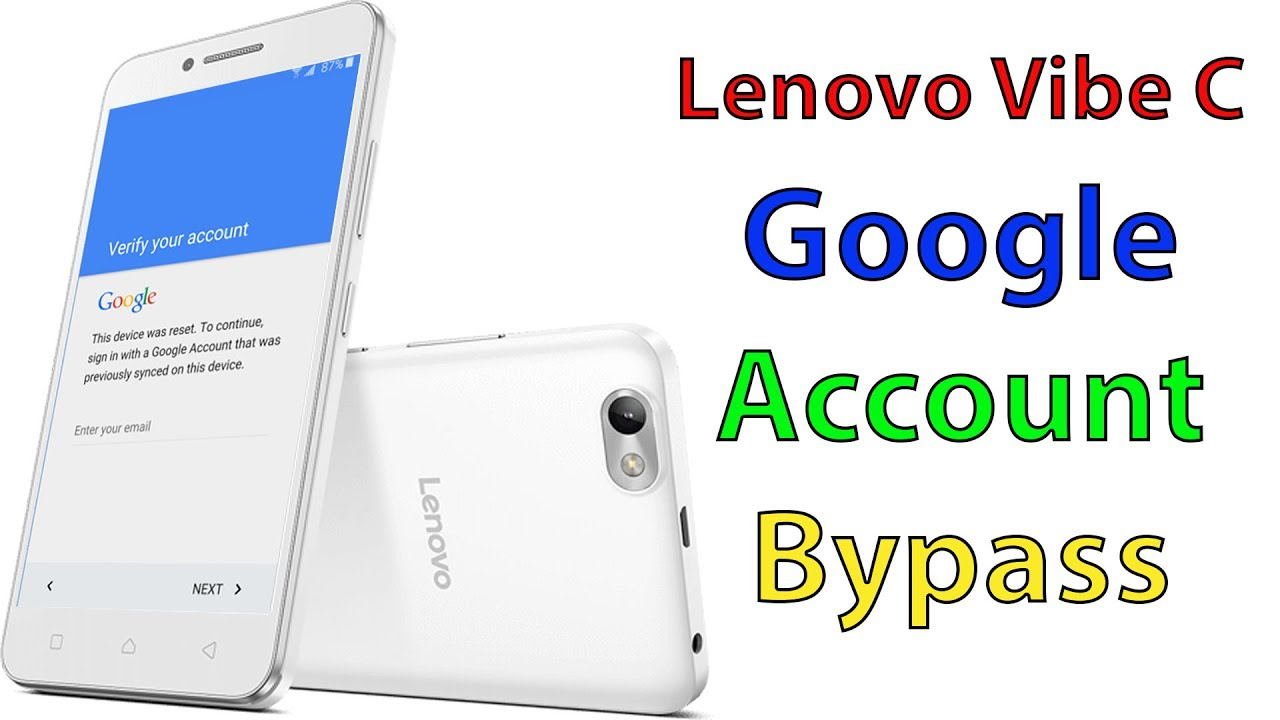 Lenovo Vibe C Google account bypass frp remove Done By