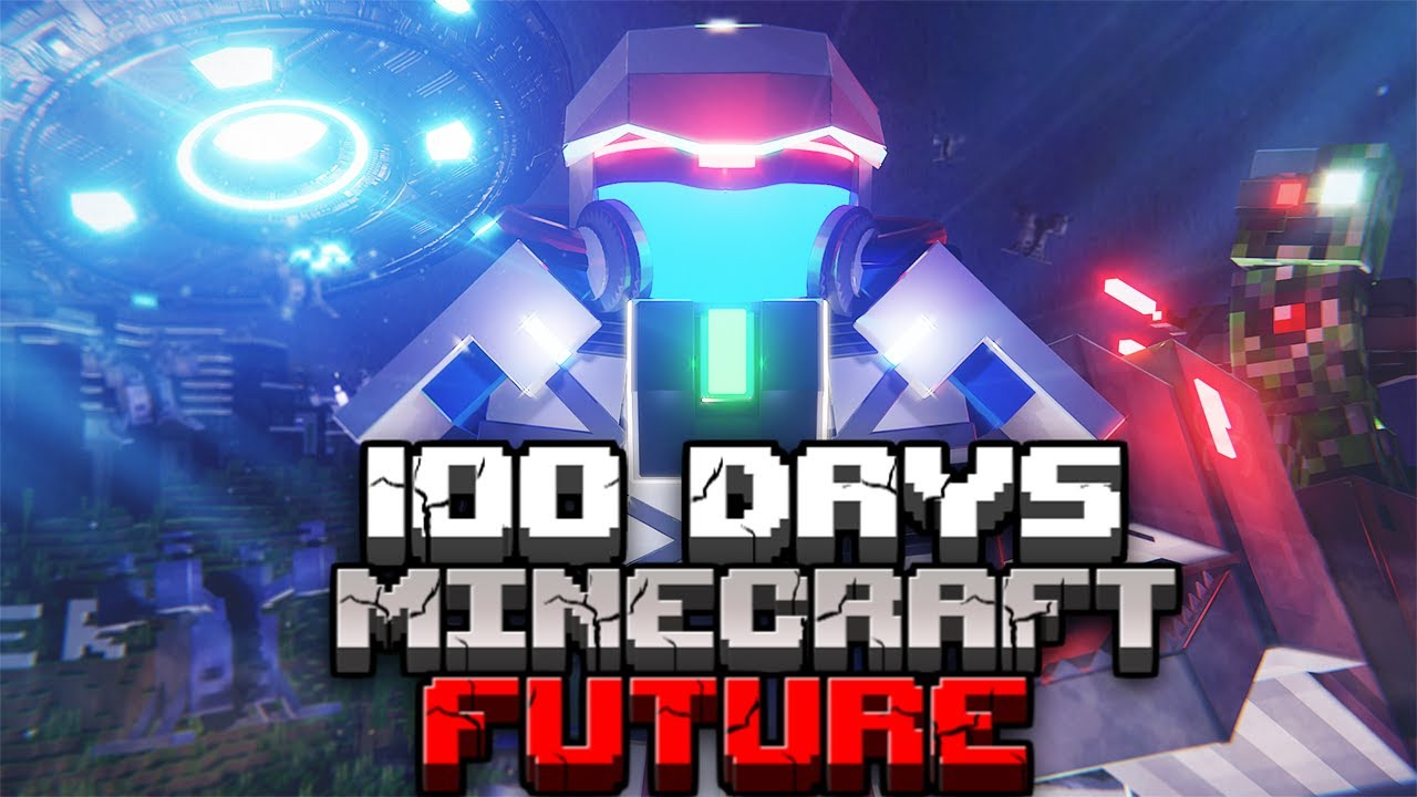 I Survived 100 Days in the FUTURE in Hardcore Minecraft