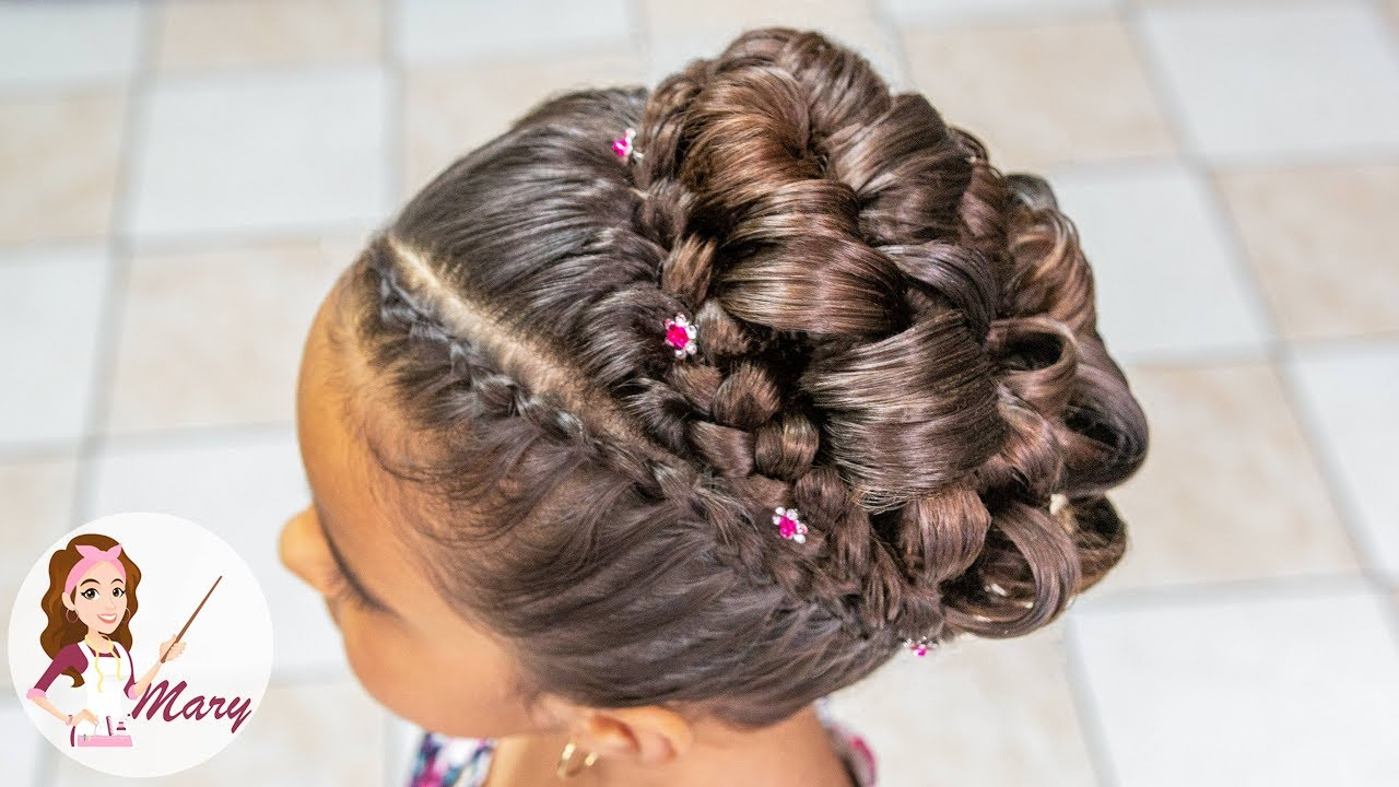 Peinado Elegante Para Primera Comunion 2018 Youtube - Peinados-para-comunion-de-nia