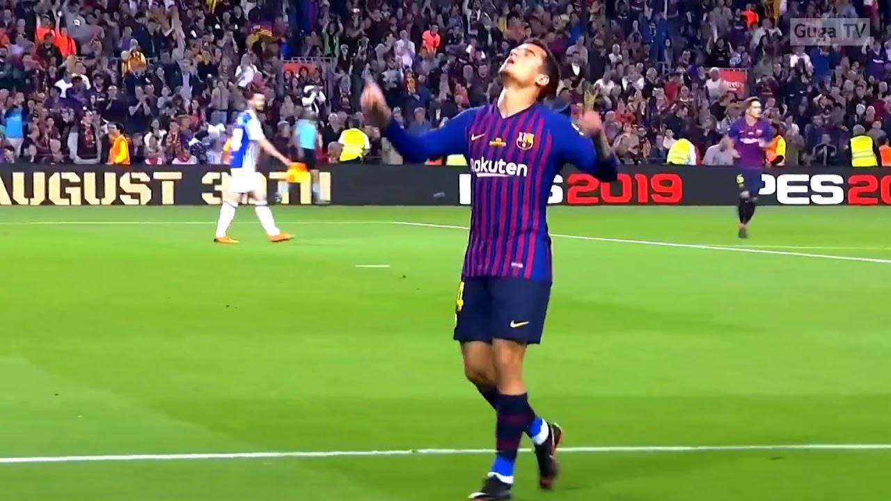 barcelona vs real sociedad 1-0 highlights english - YouTube