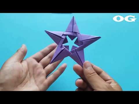 Оригами. Пятиконечная звезда удачи