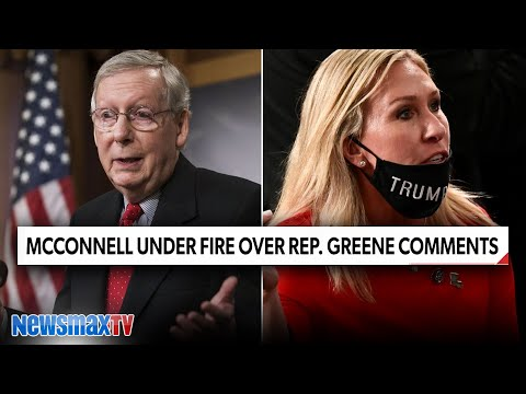 GOP split over McConnell's comments on Marjorie Taylor Greene   Newsmax TV REPORT