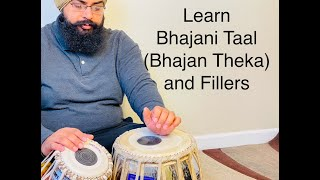 Learn Bhajani Taal, Bhajan Theka, Fillers and Tihaees. Tabla lessons in Hindi and English Part 1
