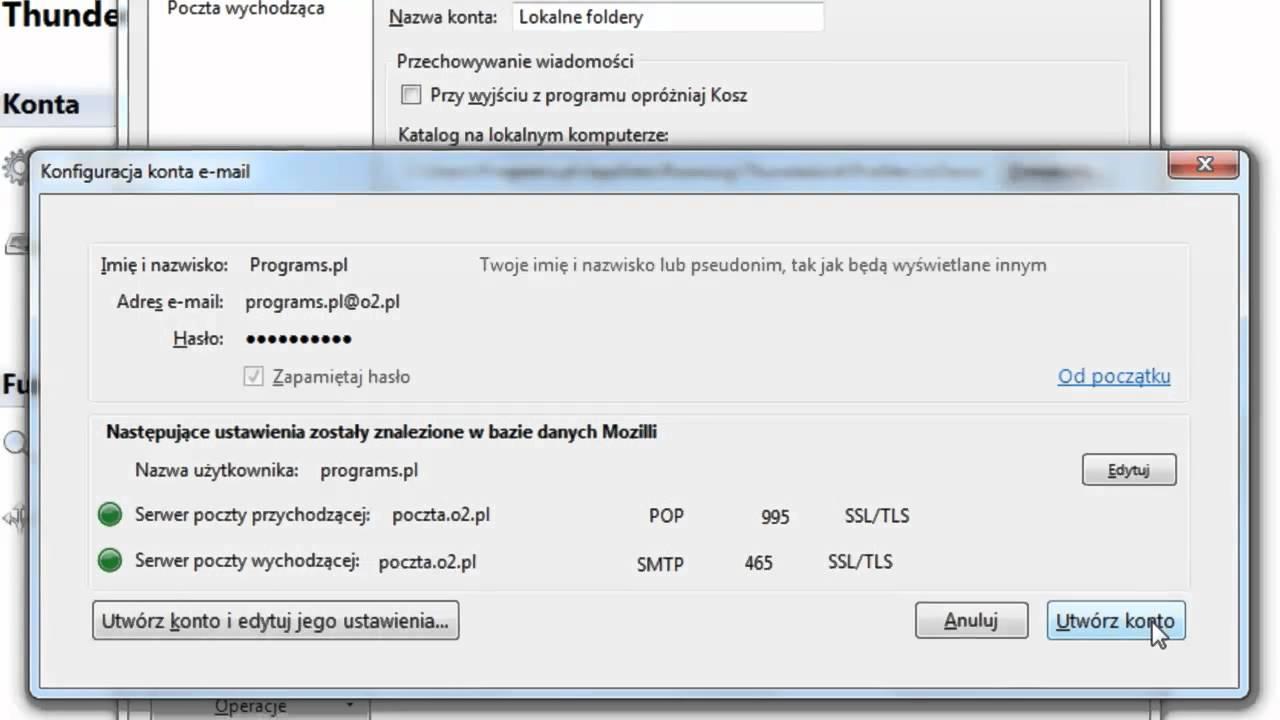 8b96ac0396f37e Jak skonfigurować pocztę w programie Mozilla Thunderbird? - YouTube