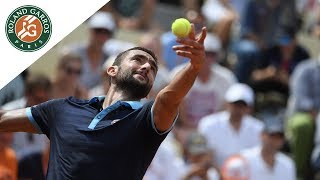Marin Cilic v Ernests Gulbis Highlights - Men's First Round 2017 | Roland-Garros