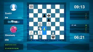 Chess Game Analysis: Elmetwaly - Eust61 : 1-0 (By ChessFriends.com)