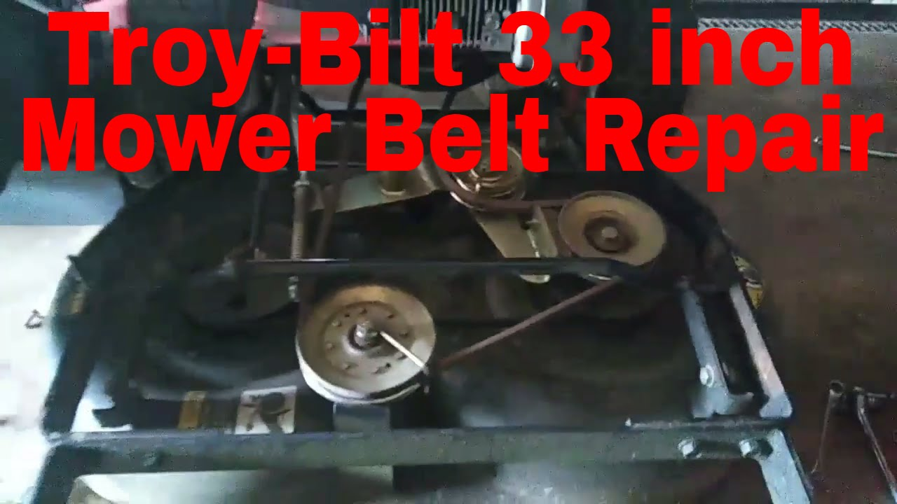 How To Repair A Troy-bilt 33 Inch Walk Behind Lawn Mower Broken Blade Belt  2017-2018