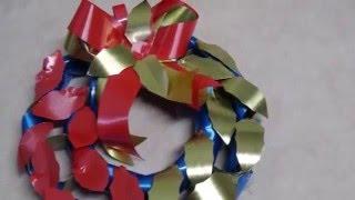 Guirlanda de rolinho de papel higiênico por Tereza Lopes