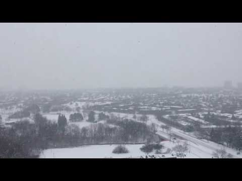 How is winter in Canada (Mississauga city).