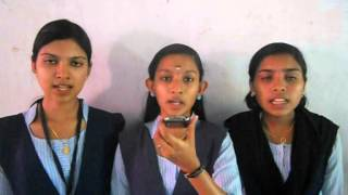 Govt. Higher Secondary School, Anchal West Prayer Song by Amrutha, Arya and Ashna.