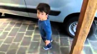 Dad And Son Argue Over Taking The Car Or Walk