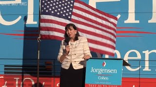 Libertarian presidential candidate Jorgensen stops in Centre County