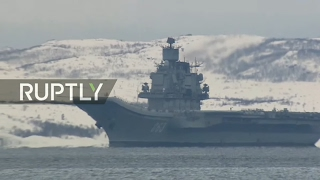 LIVE  Admiral Kuznetsov arrives in Severomorsk from Syria