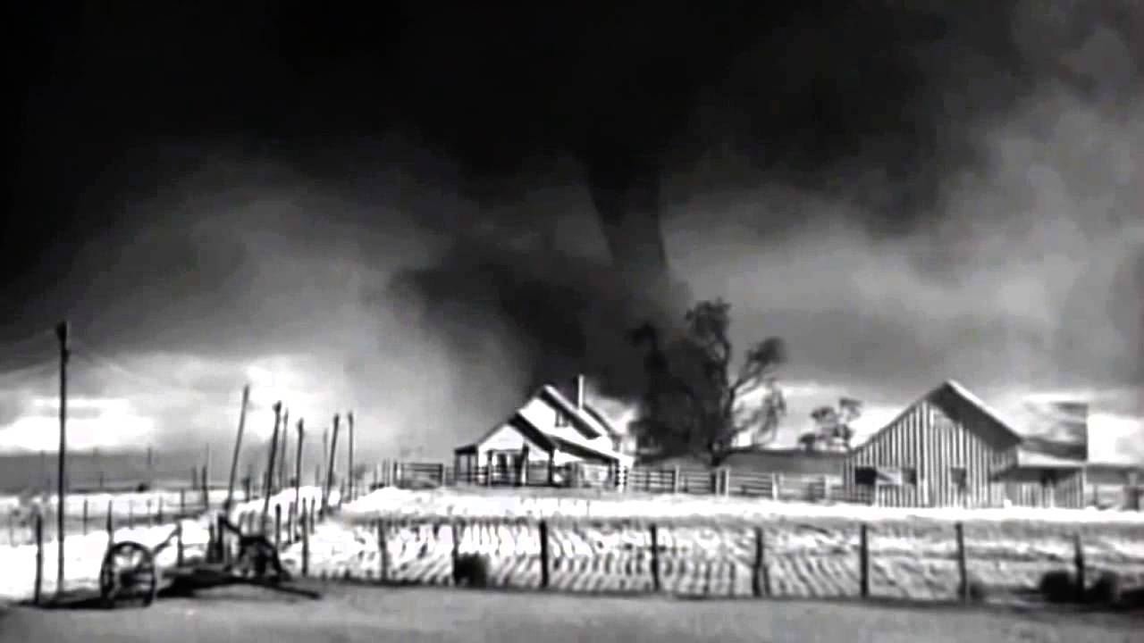 wizard of oz original test footage house swallowed by twister
